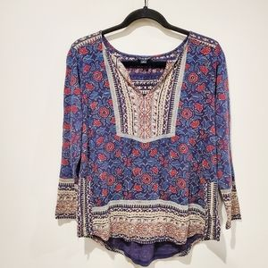 Lucky Brand Long Sleeve Peasant Blouse